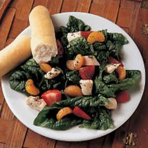 Fruited Chicken Spinach Salad