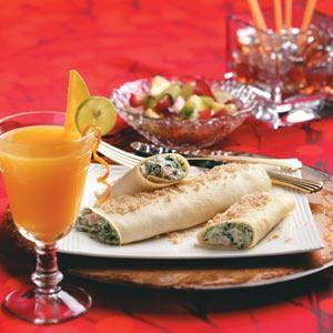 Ham and Spinach Crepes Recipe