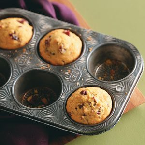 Cranberry-Pecan Corn Muffins Recipe