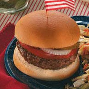 Three-Cheese Stuffed Burgers