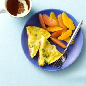 Ham & Broccoli Frittata Recipe