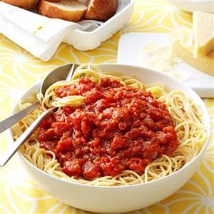 Homemade Meatless Spaghetti Sauce Recipe