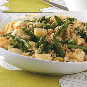 Parsnip-Asparagus Au Gratin Recipe photo by Taste of Home