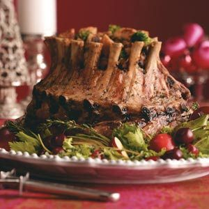 Crown Roast with Broccoli Mushroom Stuffing Recipe