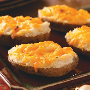 Garlic-Cheddar Baked Potatoes
