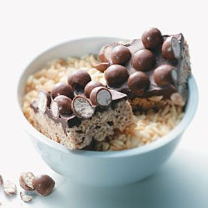 Chocolate Malt Crispy Bars Recipe
