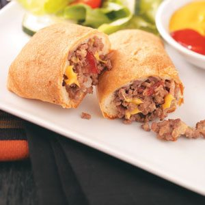 Bacon Cheeseburger Roll-Ups Recipe