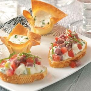 Roast Beef and Pear Crostini Recipe