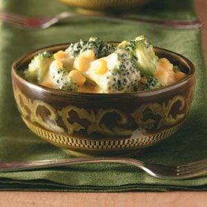Corn and Broccoli in Cheese Sauce Recipe