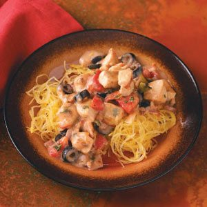 Mediterranean Chicken with Spaghetti Squash Recipe Taste of Home