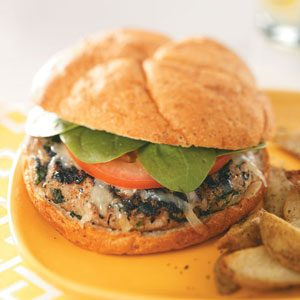 Chicken Florentine Burgers Recipe