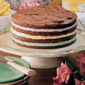 Pastel Four-Layer Cake Recipe