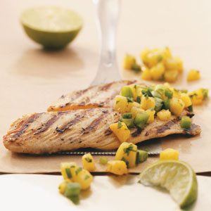 Grilled Tilapia with Pineapple Salsa for 2