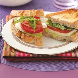 Fresh Mozzarella Sandwiches for 2 Recipe