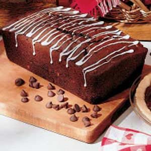 Glazed Chocolate Tea Bread