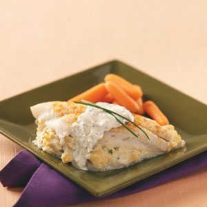 Crab-Stuffed Flounder with Herbed Aioli Recipe