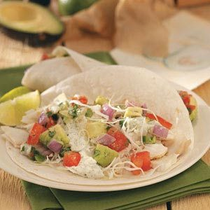Fish Tacos with Avocado Sauce Recipe