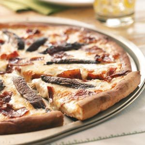 Alfredo Bacon Mushroom Pizza Recipe