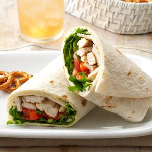 Warm Turkey & Tomato Wraps Recipe
