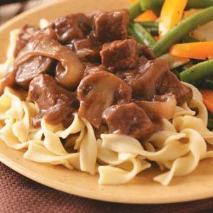 Beef with Red Wine Gravy Recipe