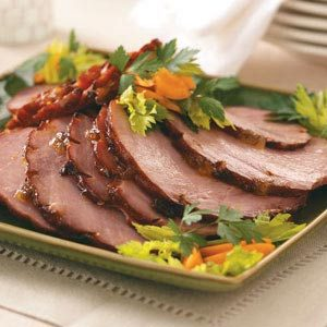 Apricot & Mango-Glazed Ham