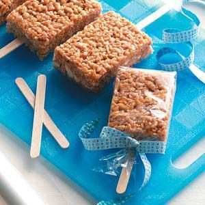 Caramel Crispy Pops Recipe