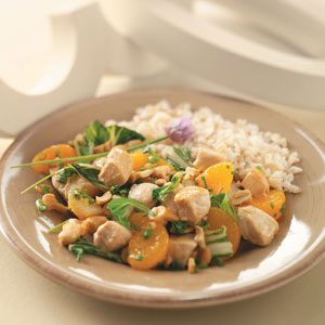 Orange-Cashew Chicken and Rice Recipe