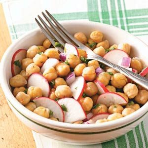 Radish & Garbanzo Bean Salad Recipe