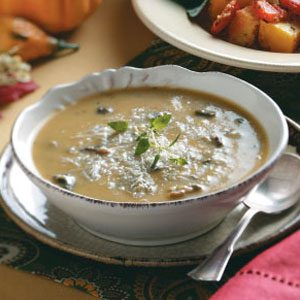 Cremini & Butternut Squash Soup Recipe