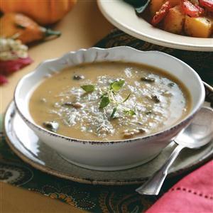 Cremini & Butternut Squash Soup Recipe