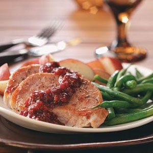 Cranberry-Kissed Pork Chops