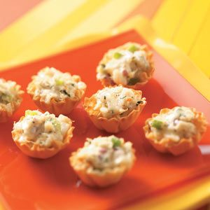 Crab Salad Tarts Recipe