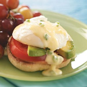 Eggs Benedict with Jalapeno Hollandaise Recipe photo by Taste of Home