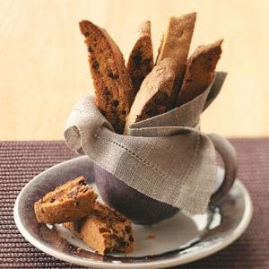 Chai-Chocolate Chip Biscotti