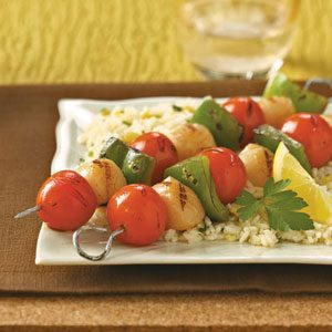 Scallop Kabobs for 2 Recipe