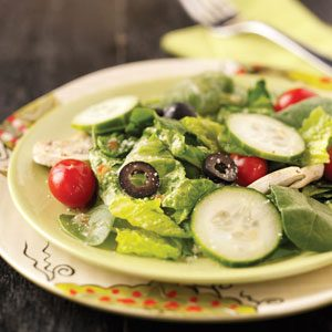 Veggie Tossed Salad for 2 Recipe