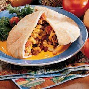 Bean 'n' Burger Pockets Recipe