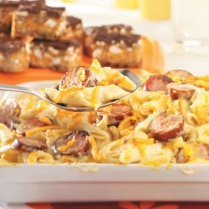 Penne and Smoked Sausage Casserole Recipe