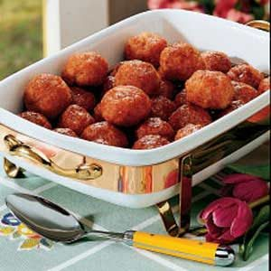 Ham Balls with Brown Sugar Sauce Recipe