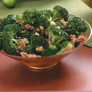 Broccoli with Walnuts and Cherries Recipe