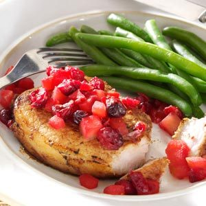 Cranberry-Apple Pork Chops Recipe