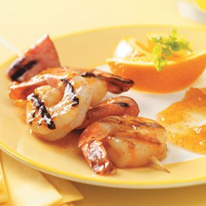 Grilled Shrimp with Apricot Sauce for 2 Recipe