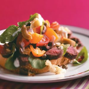Grilled Steak Bruschetta Salad for 2 Recipe