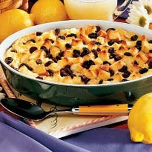 Lemon Bread Pudding Recipe