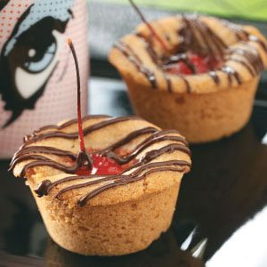Drizzled Cherry Cookie Cups Recipe