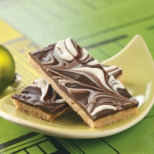 Chocolate Swirled Bars Recipe