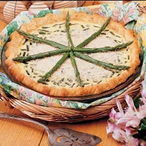 Fresh Asparagus Quiche Recipe