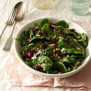 Cranberry-Sesame Spinach Salad Recipe