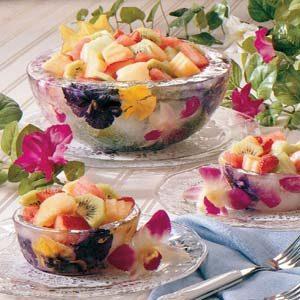 Frozen Flower Serving Bowls Recipe