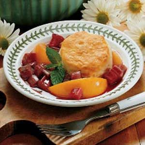 Rhubarb Peach Shortcake Recipe